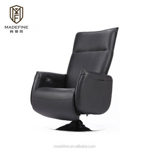 MADEFINE 81866 Home Furniture Living room lounge Chairs in Genuine Leather electric single leather sofa
