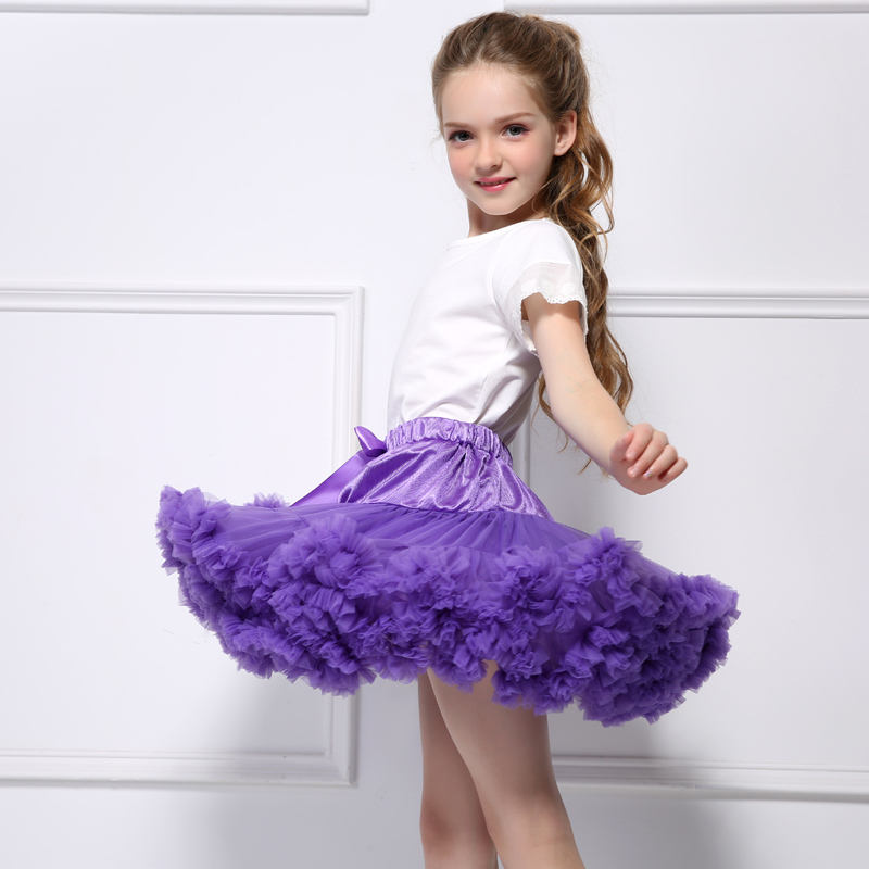 High Quality Comfortable Women Girls Dancewear Fluffy Pettiskirt Ballet Tutu Skirt With Bow