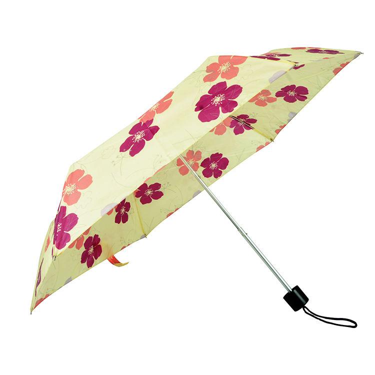 Sıcak satış Mini cep 3 katlanır şemsiye 190T Polyester kumaş