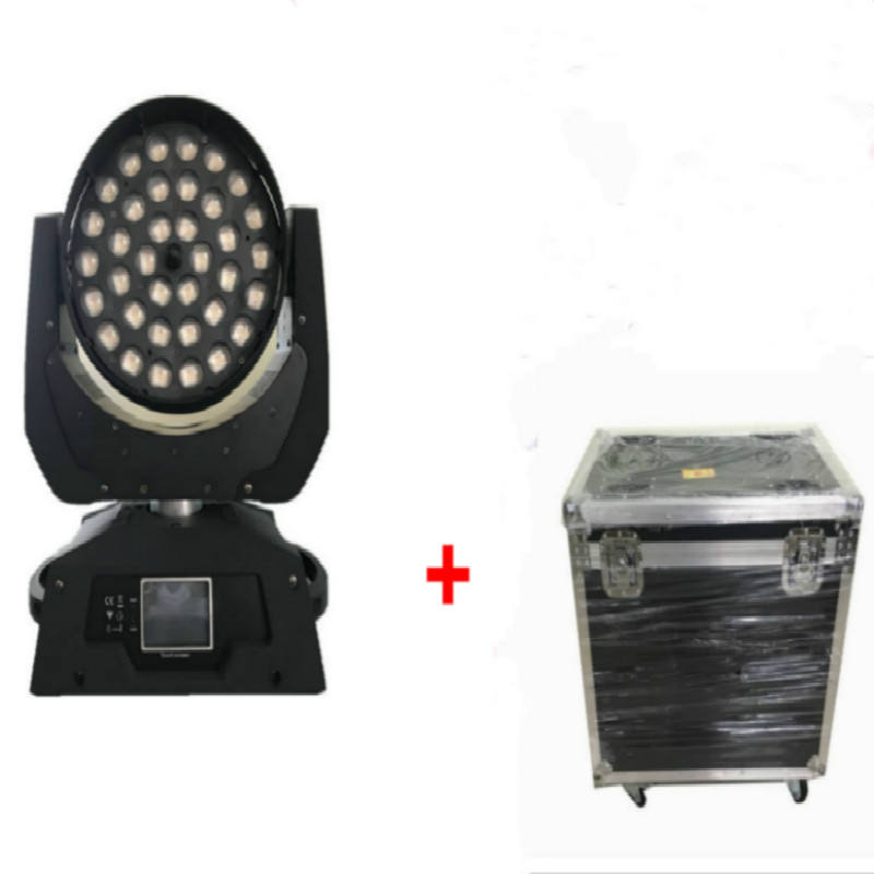 4 в 1 чехол для проектора 36x18 Вт 6 в 1 RGBWA + UV Led Moving Head Wash Zoom Light DMX Effect Stage DJ Event Lighting