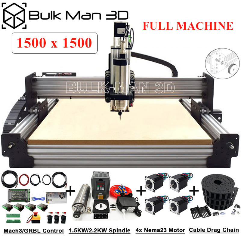 최신 버전 1500x mm Workbee CNC 우드 라우터 풀 키트 Tingle Tension System CNC Mill CNC 조각사