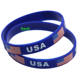 Custom printed logo silicon wrist band silicone bracelet for promotion gift