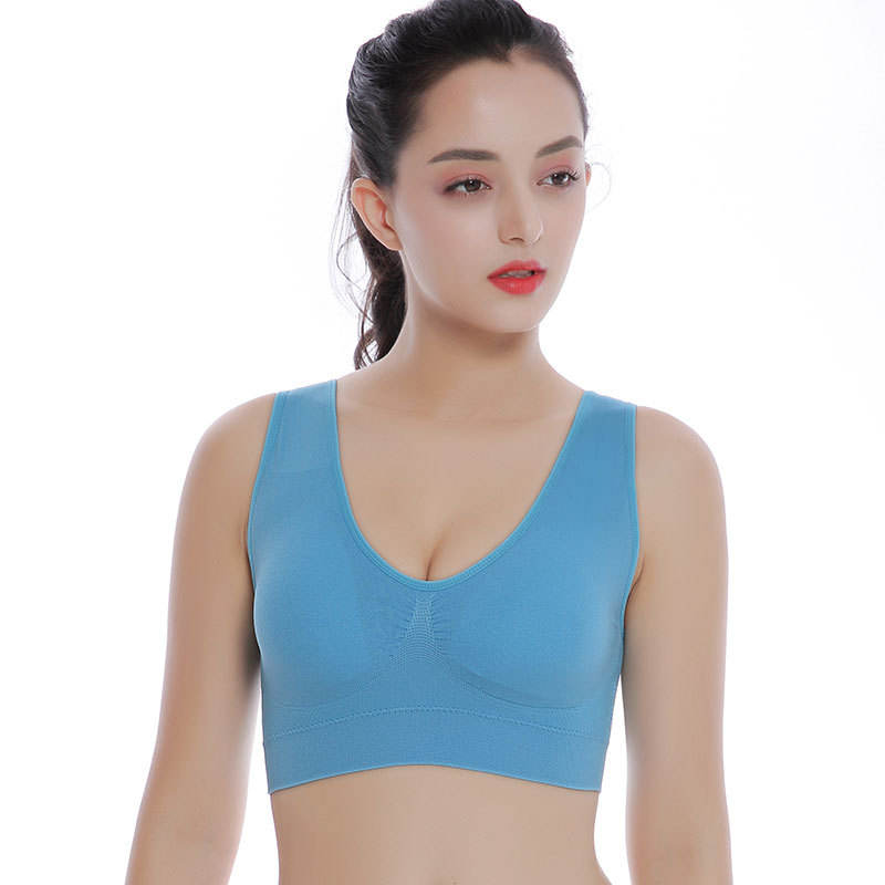 12 Colors 6 Sizes Ladies Ahh Bra Sexy Leisure Comfortable No Rims Yoga Sleeping Seamless Bra