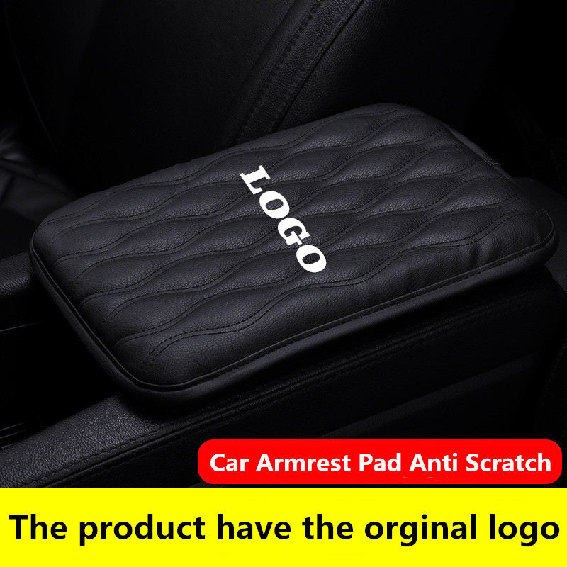 Aanpasbare Logo Auto Center Console Pad Console Cover Armsteun Pads Universele Auto Doos Arm Rest Pads Kussen Protector