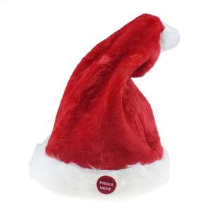 2019 Electric Musical Christmas Hat Magic Dancing Singing Plush Adjustable Santa Claus Hat for Soft Plush Caps Holiday Present