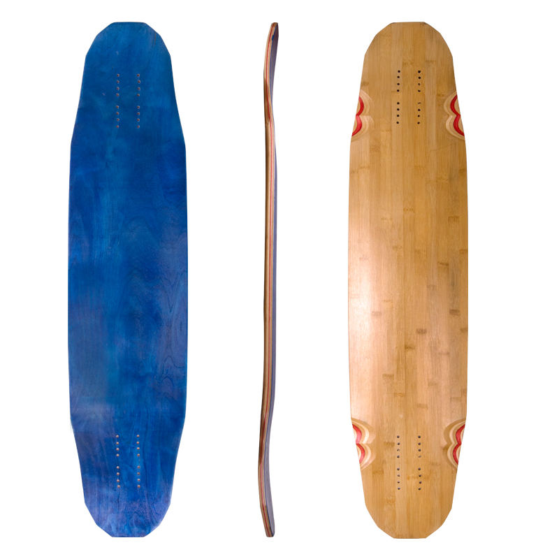 cheap custom uncut bamboo maple blank longboard decks