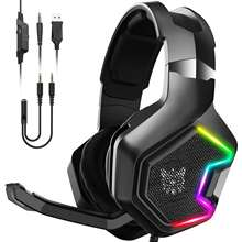OEM Custom LOGO Mobile Phones Wireless LED RGB Gaming Headset Game Headphone Audifonos Gamer Headphones