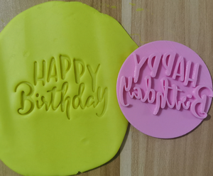 happy birthday cake tool plastic mold cookie cutter embosser plastic stamp cake mold tools fondant mold