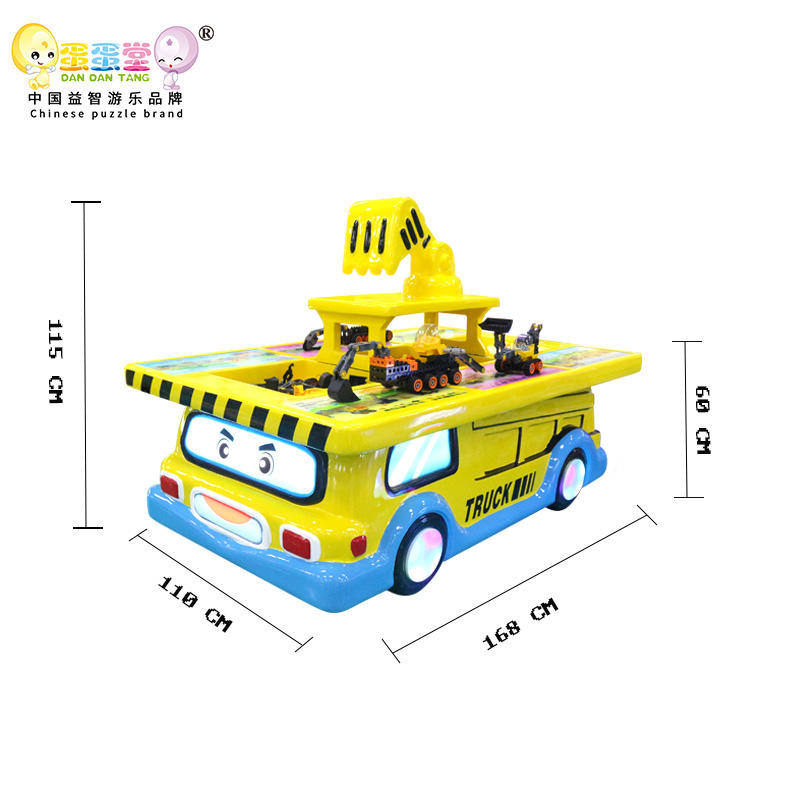 children amusement park item game table with various toys