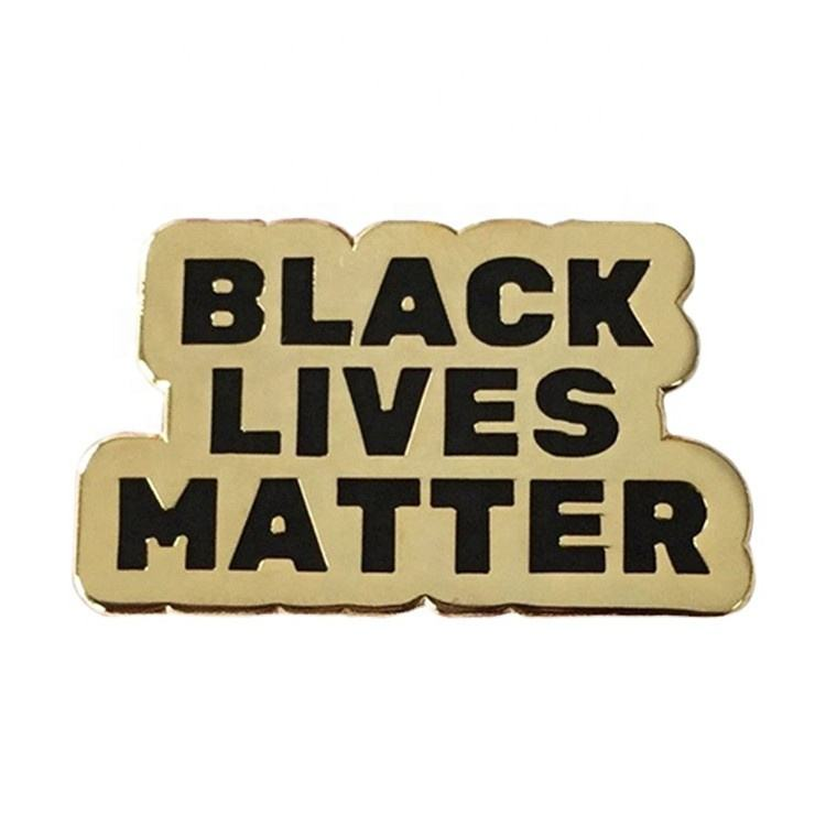 Amazons Hot Sell Customized Metal Gold Enamel Black Lives Matter Lapel pins