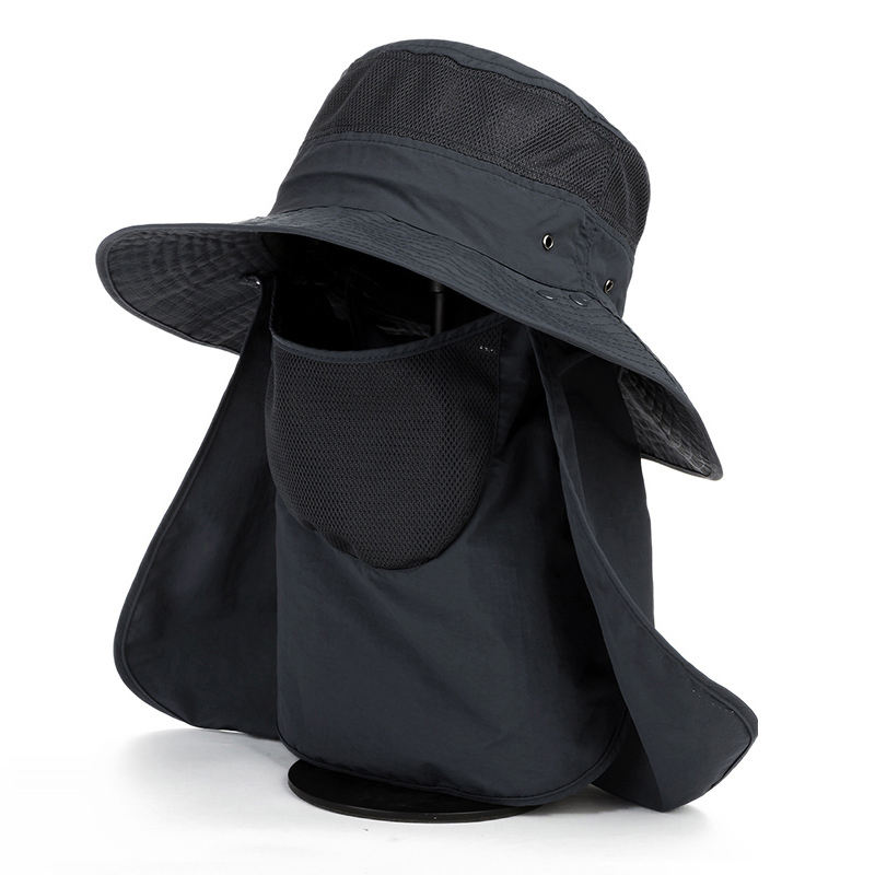 2019 New Design Outdoor UV Protection Sun Hats Couples Light String Bucket Fishing Bucket Hat