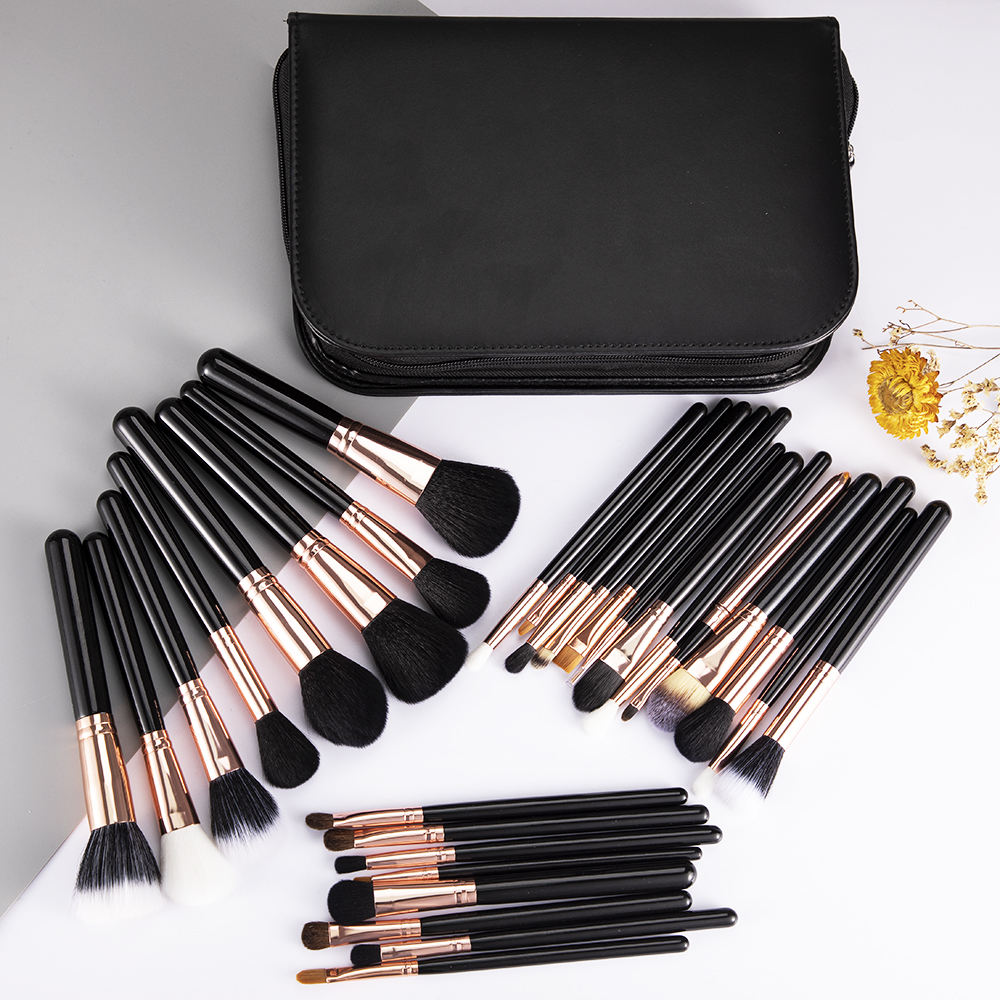 Professional 29pcs Luxury Makeup Brushes Complete Kit Extravganza Copper Kit Collection Make Up Brushes with Case