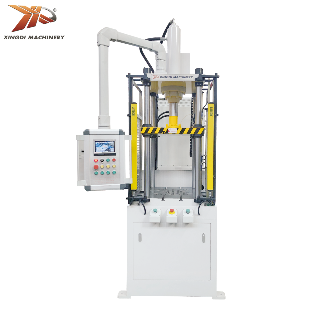 Kecepatan Tinggi Double Action Deep Drawing Press Hidrolik 4 POST Servo Hydraulic Deep Drawing Press Mesin