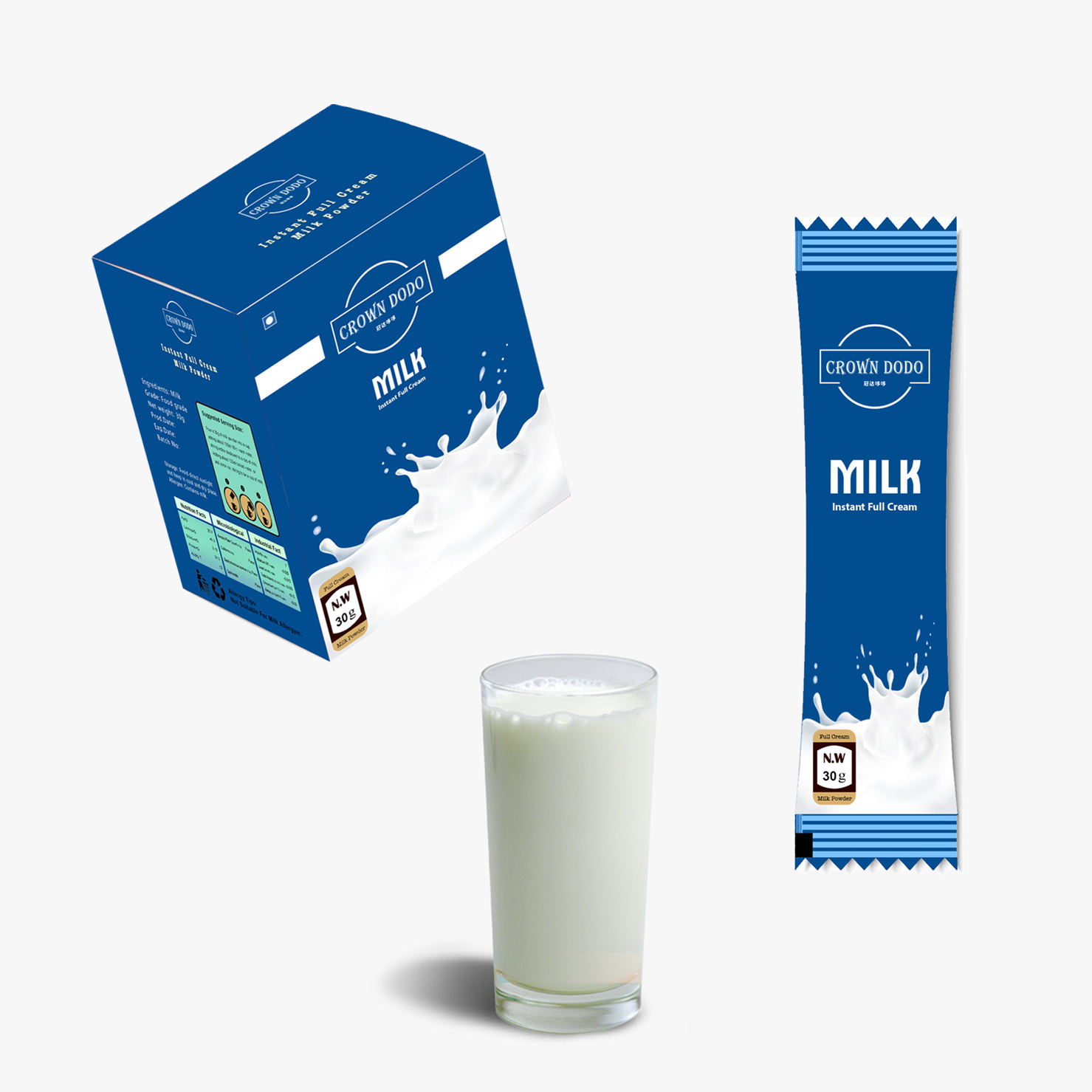 Instant whole milk powder in box original New Zealand aka full milk powder 100% additive free dry pure milk health for sale