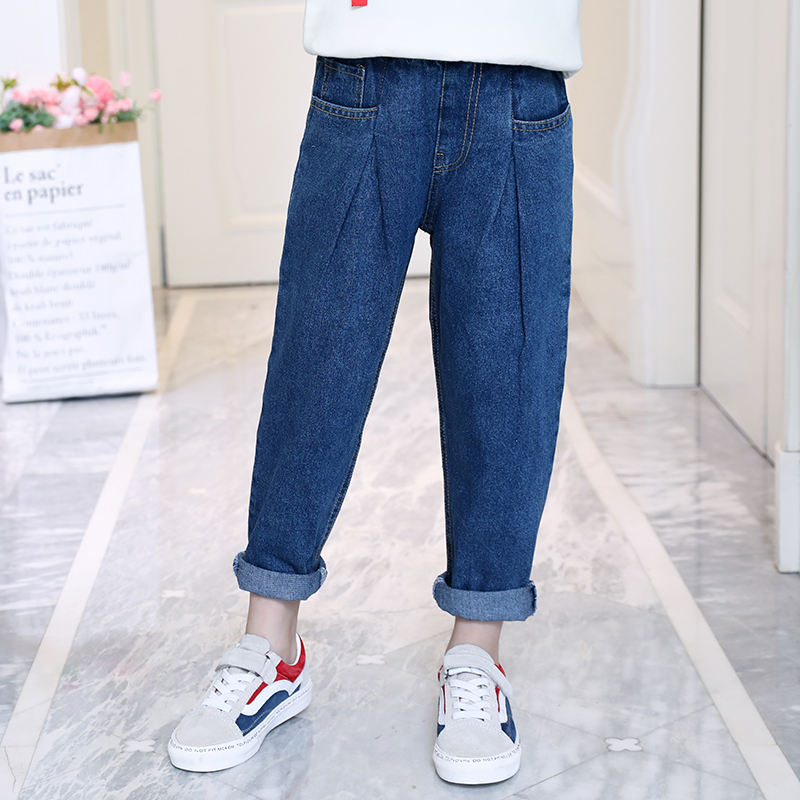 Girls pants Wholesale manufacturers high quality new model kids denim jeans