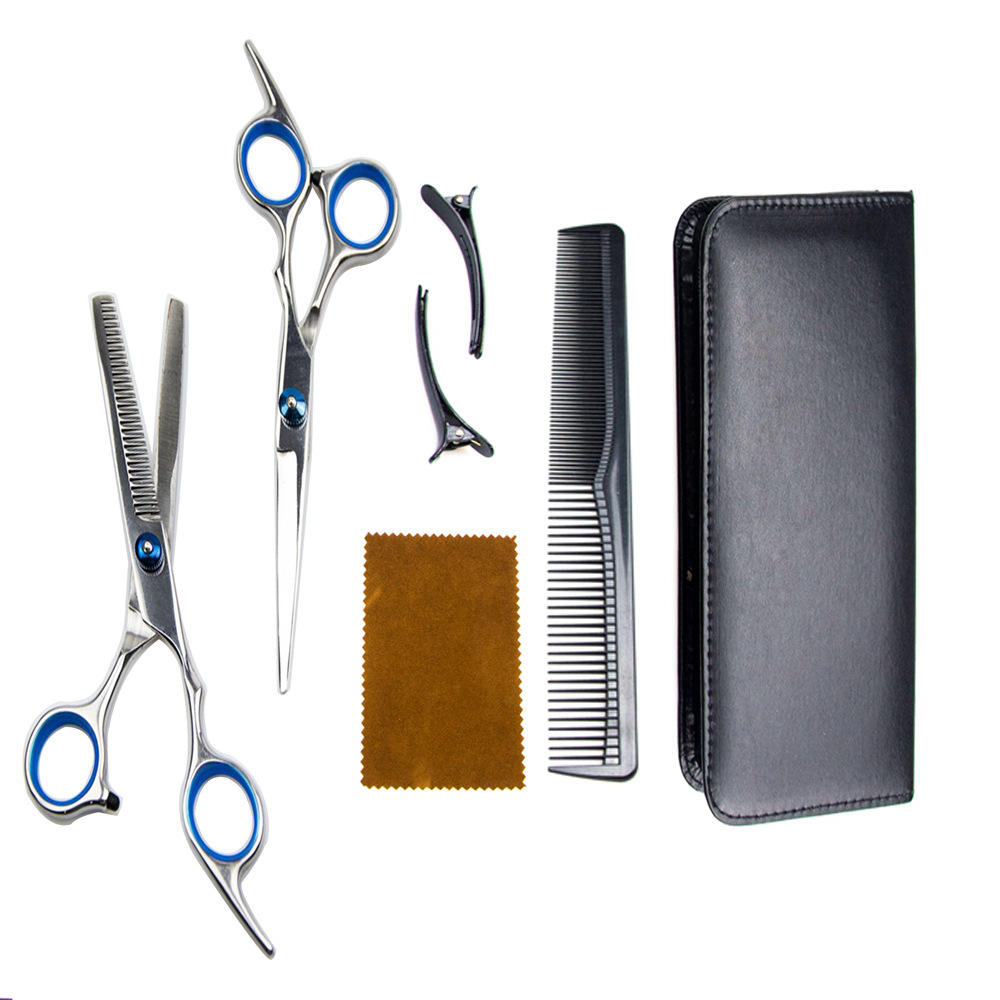 Professional Hair Cutting Scissors Set Hairdressing Scissors Kit Barber set for Barber Salon and Home