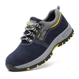 Four seasons beautiful light weight breathable rubber sole steel toe safety shoes