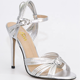Fashion design elegant bow knot peep toe pointed toe PU patent leather buckle strap high heel for party ladies sandal