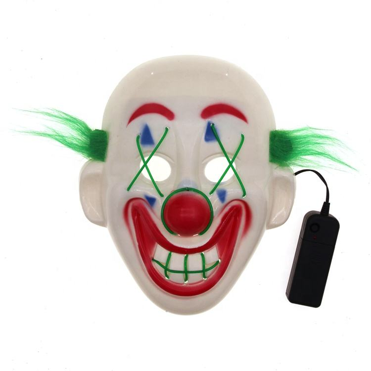 Yiwu Hot Sale Latex Purple Feather Joker Mask for Halloween Party