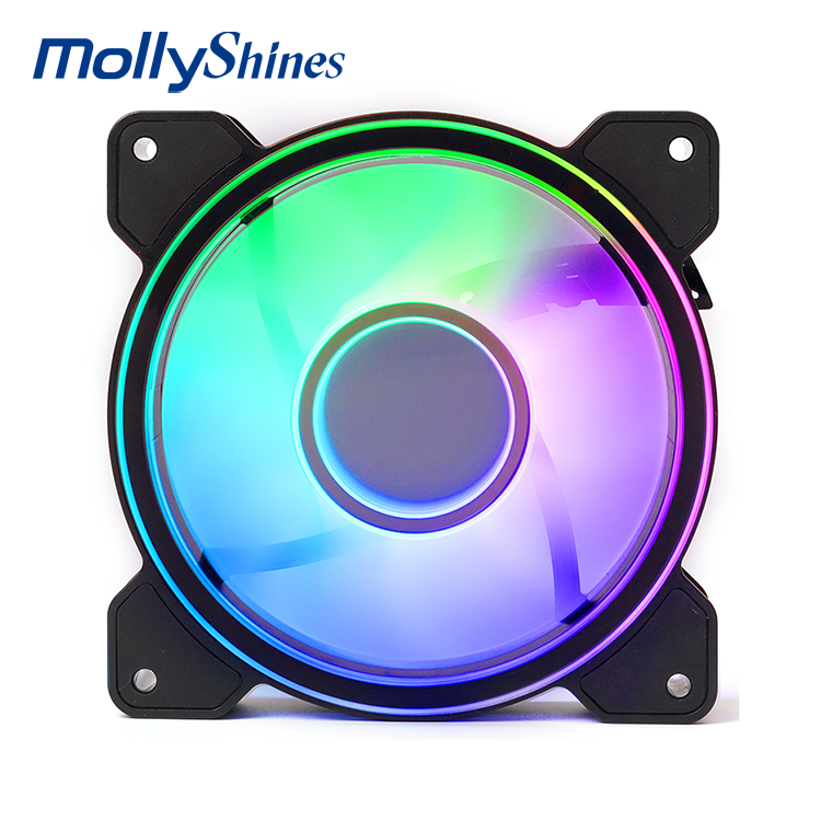 Smart PWM Computer Fans 120*120*25 Case Cooling Fan with LED Lights PC Chassis Air Water CPU Cooler
