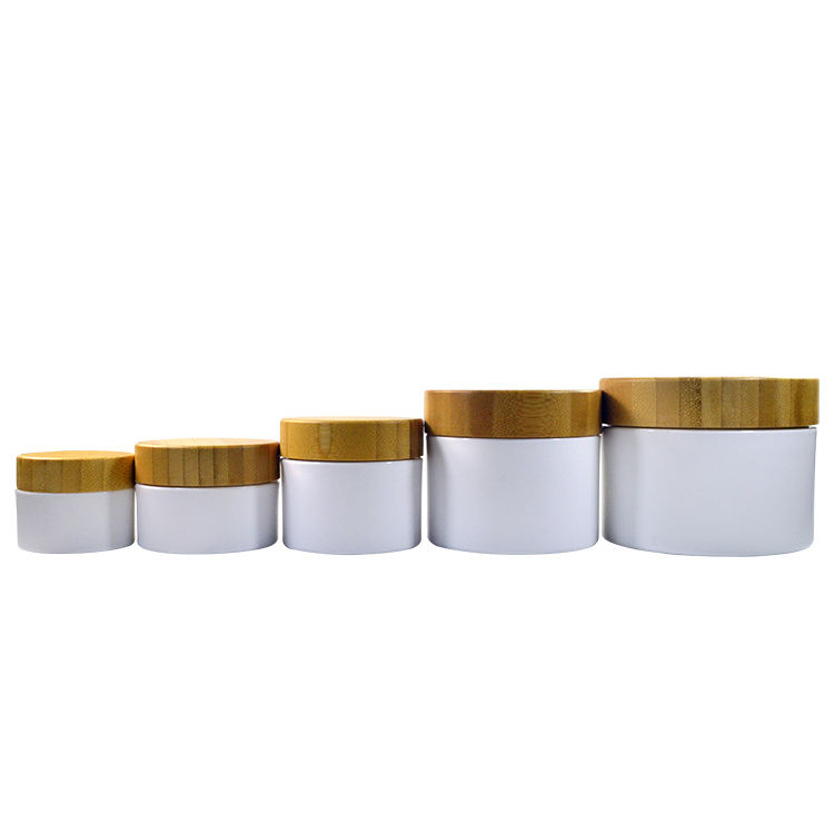 Cosmetic bamboo container 15g 30g 50g 100g 250g pp plastic cream jar with wood lid