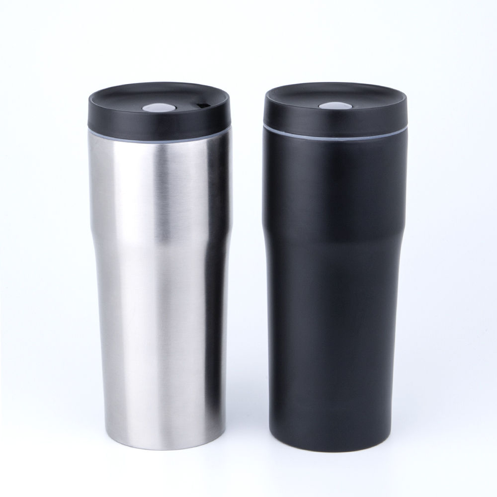 Best Selling 16 Oz Personalized Black Stainless Steel Vacuum Insulated Drinking Skinny Tumbler Cups
