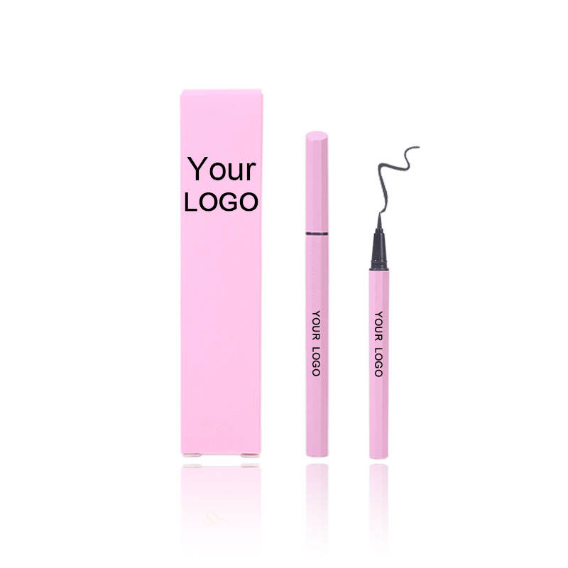 Waterproof liquid eyeliner brush custom logo , light pink eyeliner manufacturing , high quality black eyeliner pencil makeup