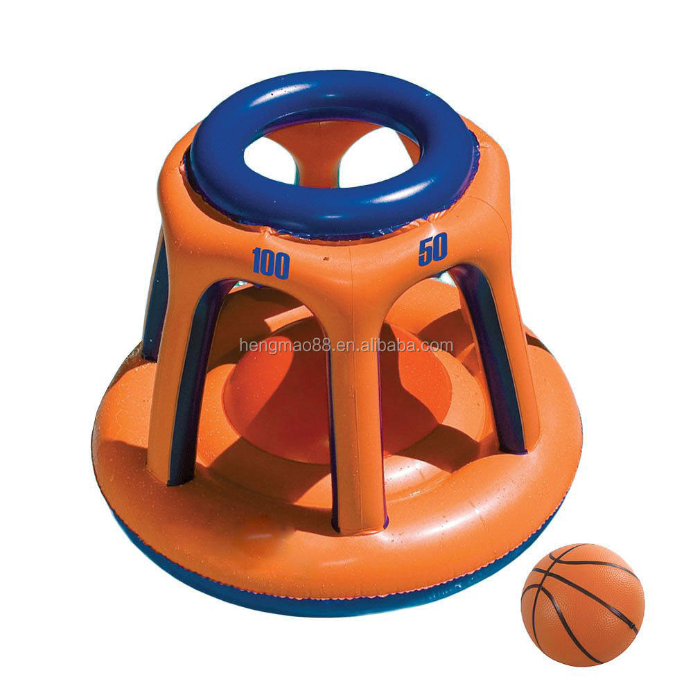 Basketball Hoop Giant Shootball Inflatable Fun Swimming Pool game Toy