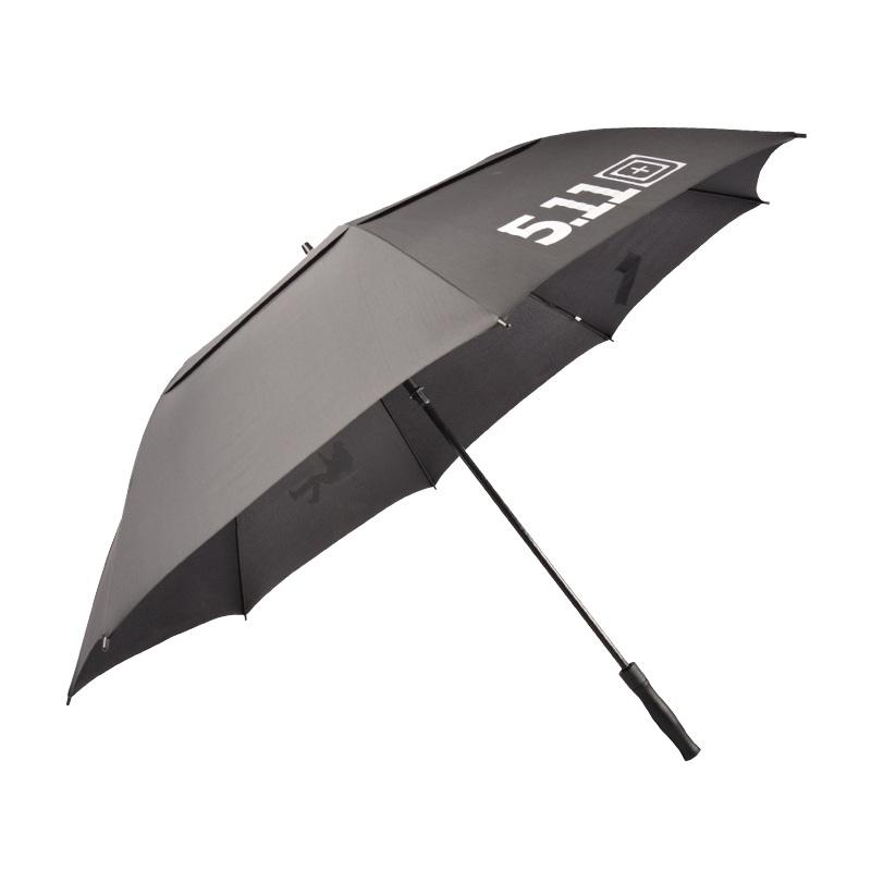 Automatic Open Stick Promotional Windproof Custom Print Double Canopy Golf Umbrella