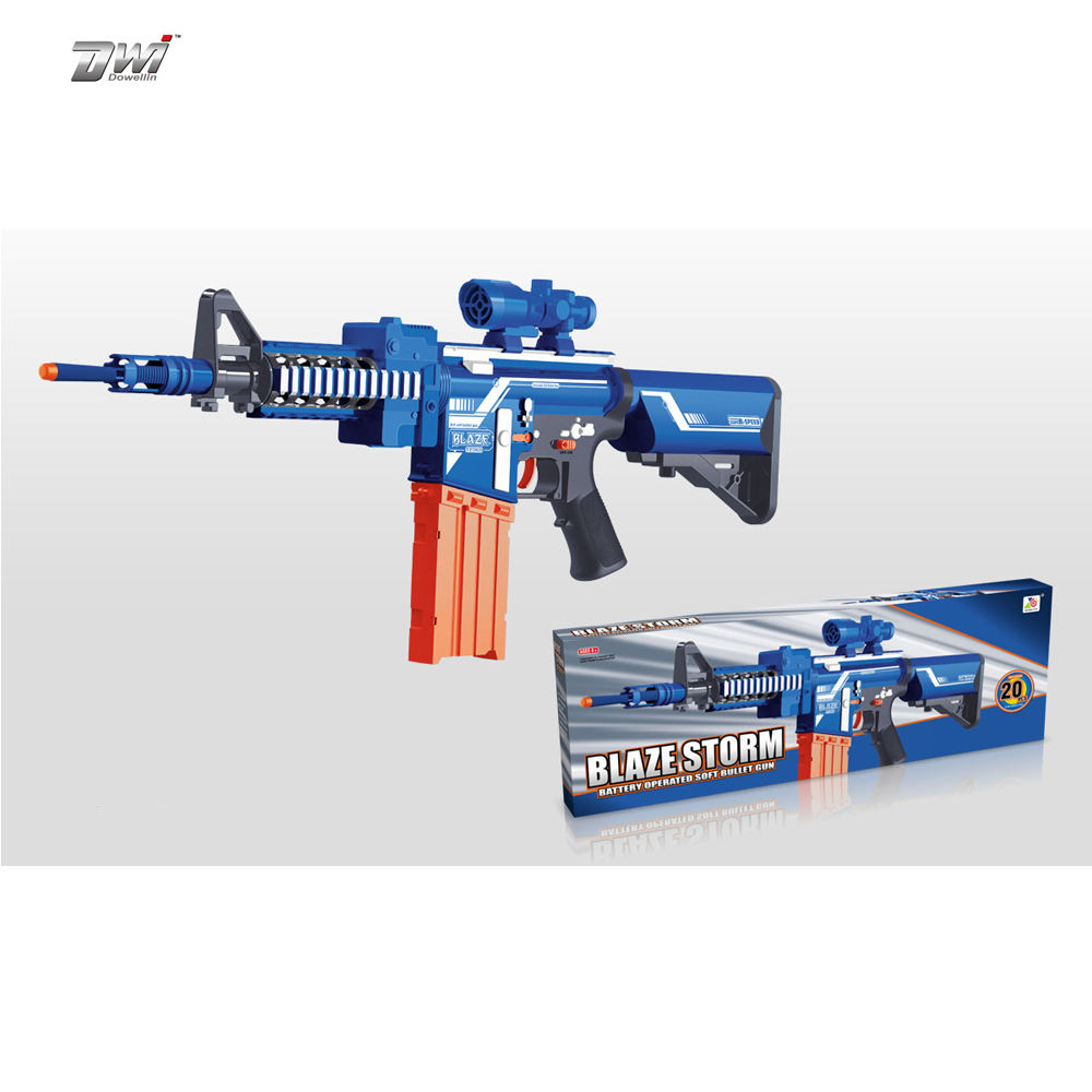 Big Soft Foam Dart Gun Alien Blaster Toy Gun w/ 20 Darts Bullets Weapons