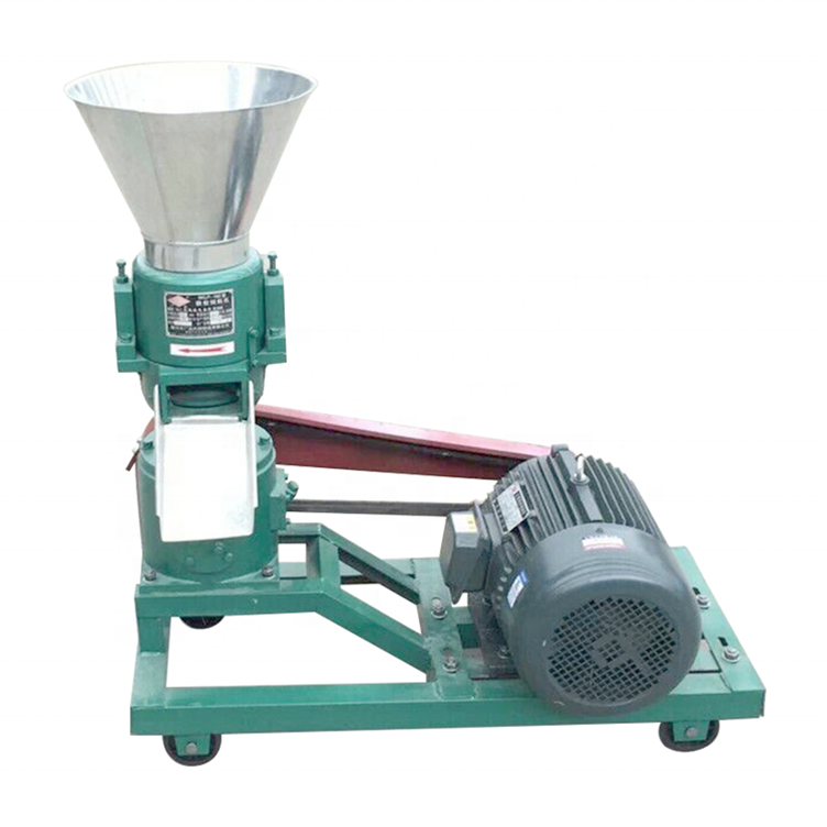 100kg/h olive waste powder making small wood pellet machine