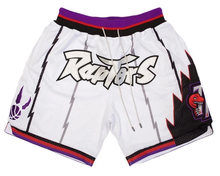 Custom logo dry fit retro sweat old school toronto vintage raptors pockets polyester white mesh just mens don  basketball shorts