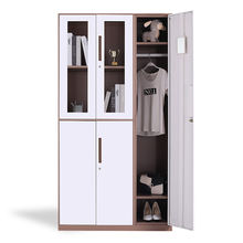 Powder Coating Combination Lockers Design Metal 3 Door Cloakroom Wardrobe
