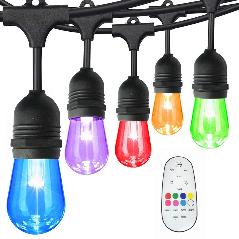 165W wall light christmas outdoor hanging chair solar patio festoon led string lights for outdoor indoor festival