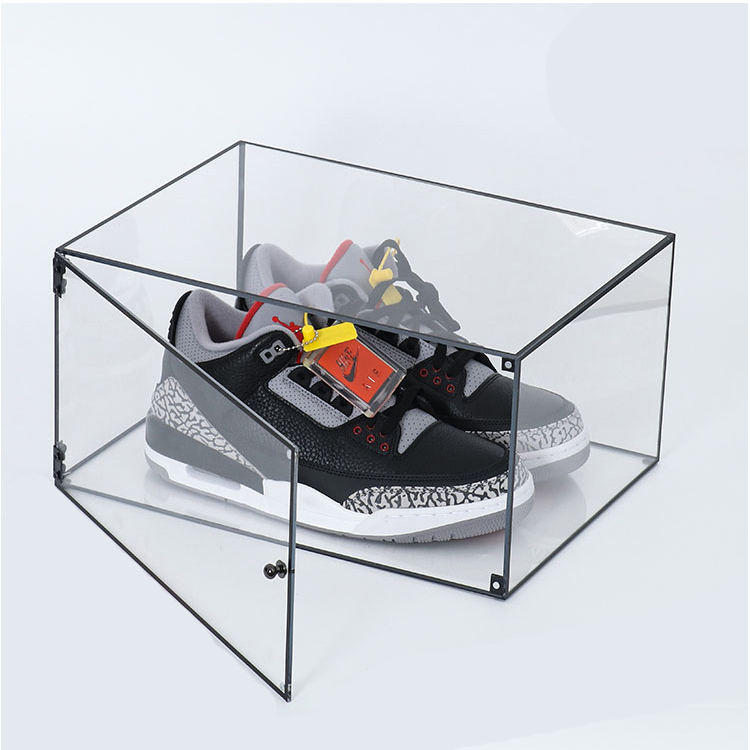 Groothandel transparant <span class=keywords><strong>acryl</strong></span> schoen sneaker display box <span class=keywords><strong>acryl</strong></span> transparante sport schoenendoos