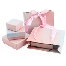 Fading color paper jewelry packaging box paper boxes customize logo for gift