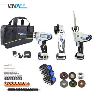 NEWONE 12V Cordless Combo Kit Lithium-Ion Drill Electric with Grinder Grinding for DIY Home Power Tool Sets