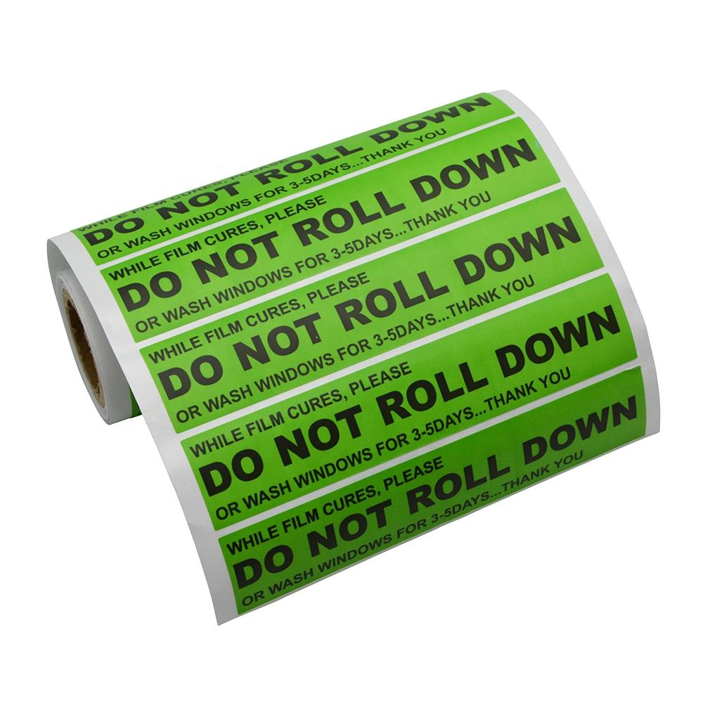 "Car Sticker ""DO NOT ROLL DOWN"" Warning Label Window Safety Mark Reflective Tape Stickers"