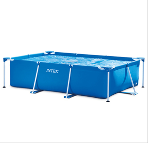 INTEX 2.2M X 1.5M X 0.6M outdoor Large family inflatable pool rectangular metal frame swimming pool