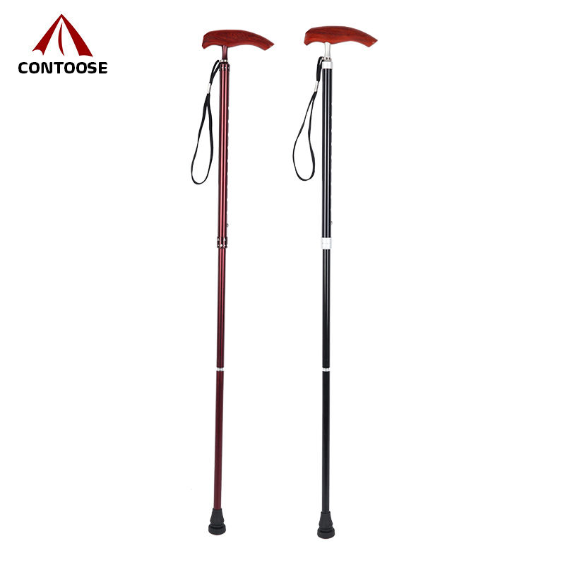 Factory manufacture aksesor folding walking alpenstock