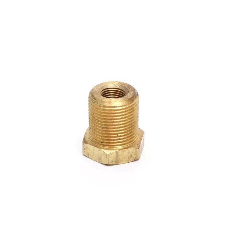 China bolts and nuts steel Male/Female thread Hexagon nut brass square bushing 1/2 1/8