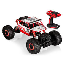 1:18 Top Race Radio Controlled Toy RC Rock Crawler 2.4Ghz Transmitter 4WD Off Road RC Car for Kids