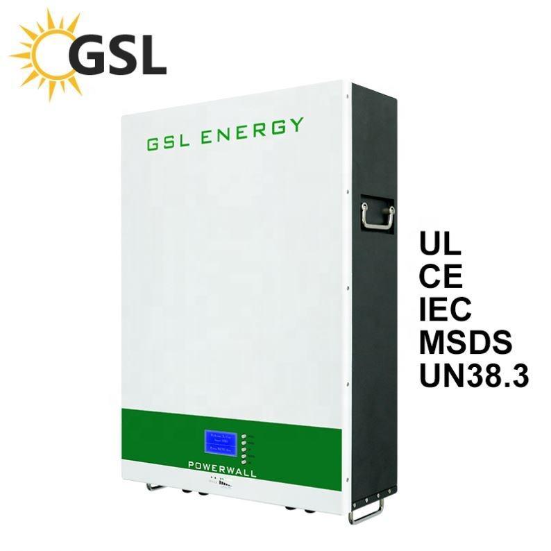 GSL di ENERGIA di Vendita Calda Sun Power 100Ah Celle Solari Lifepo4 Batteria LiFePO4 Batteria Al Litio 5Kwh 7Kwh 10Kwh