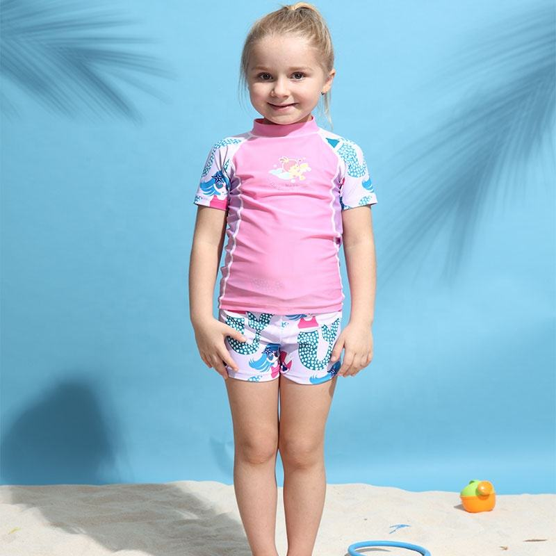 Skin protection swimming anti uv rash guards kids rashguards swimwear rash vests