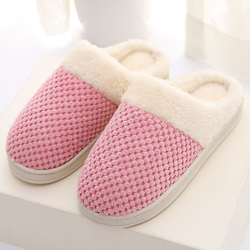Japanese style Memory Foam House Shoes sandal Winter Slippers for Indoor, comfort Warm Home Cotton Bedroom slip on slipper woman