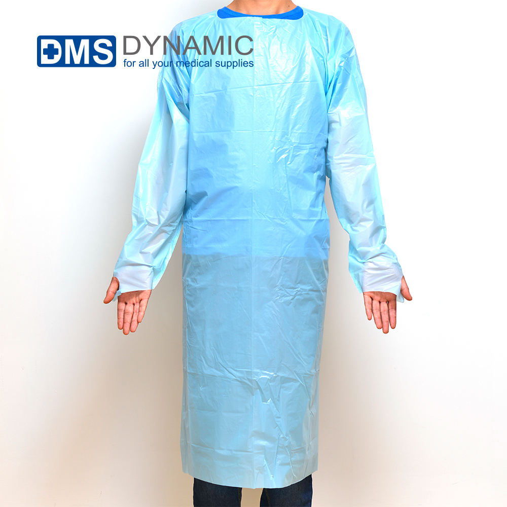 Disposable PE Apron Meets ASTM Standards F1670 and F1671 Non Sterile Latex Free Universal