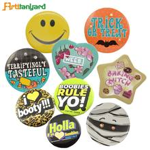 School Pin Badge Manufactures Custom Printing Assorted Metal Led Button Safety Pins Badge