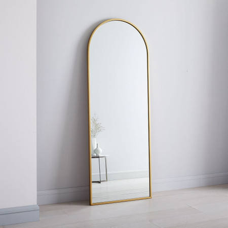 Wholesale Gold Aluminum Frame Arch Decorative Modern Dressing Room Wall Full Length Floor Mirror