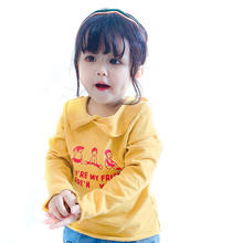 New products 2019 autumn fashion korean baby kids clothing clothes cotton cartoon character long sleeve print t-shirt
