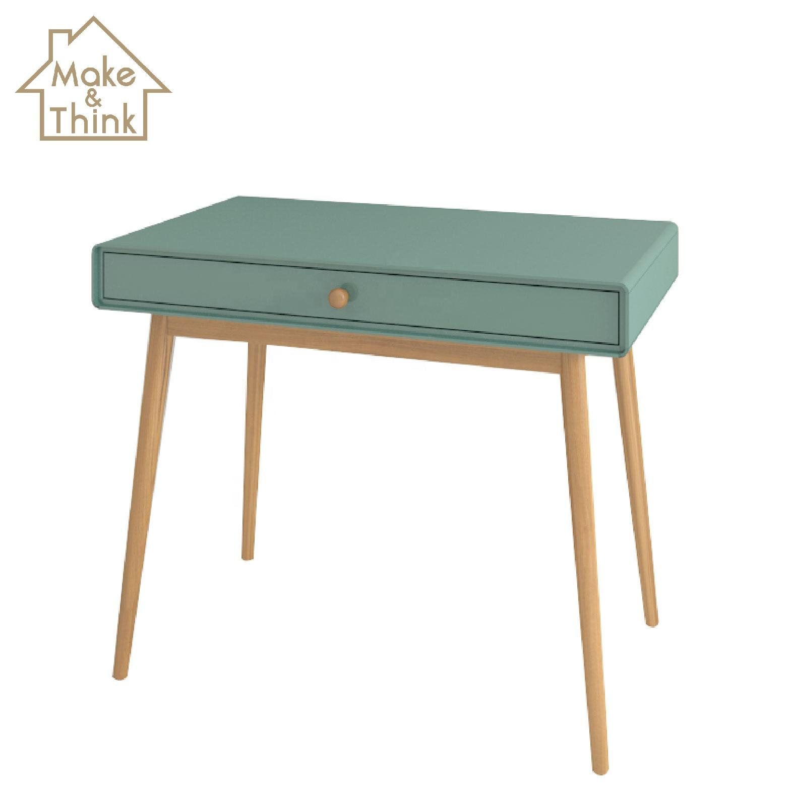 Simple solid wood furniture child study office desk mesa de trabalho with drawers